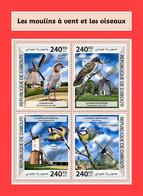 DJIBOUTI 2017 - Windmills, Insect - YT 1684-7; CV=20 € - Insecten