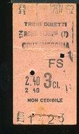 TR24 DIRETTO  ROMA TERMINI CIVITAVECCHIA 1952 3° CLASSE - Treni