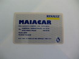 Renault Maiacar Maia Portugal Portuguese Plastic Pocket Calendar 1991 - Calendari
