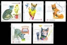 Canada (Scott No.2830-34 - Pour L'amour De Votre Animal / Love Your Pet) (o) - 1952-.... Règne D'Elizabeth II