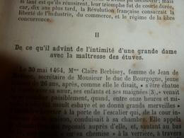 1867 Ce Qui Advint De L'intimité D'une Grande Dame Avec La Maitresse Des étuves à Dijon;ANNUAIRE Départ. Côte D'Or;etc - Livres, BD, Revues