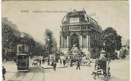 CPA - 75 -   PARIS  - Fontaine Et Place Saint Michel - - Arrondissement: 05