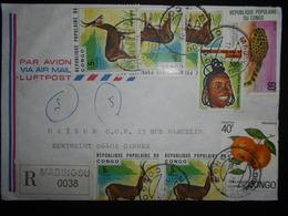 Congo , Lettre Recommandee De Madingou 1979 Pour Cannes - Congo - Brazzaville