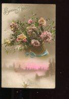 CPA Bonne Année Fleurs Roses - Nouvel An