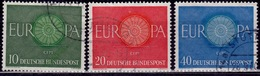 Germany, 1960, CEPT, Europa Issue, Sc#818-820, Used - [7] Federal Republic