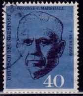 Germany, 1960, George C. Marshall, 40pf, Sc#821, Used - [7] Federal Republic