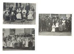 Guerre 14/18 - Lot De 3 Photos ( REPRODUCTION )  De 1915, Civils Belges Accueillis Grande-Bretagne ( Sous Réserve) Sf41 - Reproductions