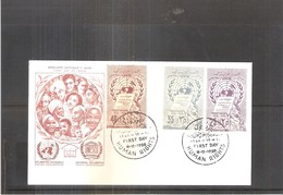 Syrie - UAR FDC Human Rights 1958 (to See) - Syrie