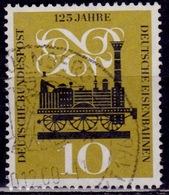 Germany, 1960, Steam Locomotive, 10pf, Sc#822, Used - [7] Federal Republic