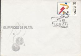 73538- SOCCER, BARCELONA'92 OLYMPIC GAMES, SPECIAL COVER, OBLIT FDC, 1995, ROMANIA - Summer 1992: Barcelona