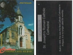 ANTIGUA 18CATD   CARAÏBES  EC$10  ST JOSEPH CATHEDRALE - Antigua And Barbuda