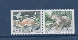 HERMELIN ERMINE OTTER LOUTRE SWEDEN  SCHWEDEN SUEDE 1996 MNH MI 1927 1928 - Other