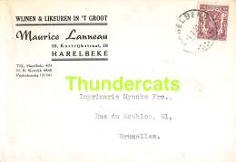 CPA PUB PUBLICITE RECLAME  HARELBEKE MAURICE LANNEAU WIJNEN & LIKEUREN - Harelbeke