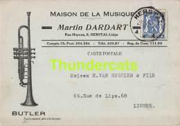 CPA PUB PUBLICITE RECLAME  HERSTAL MAISON DE LA MUSIQUE MARTIN DARDART HERSTAL LIEGE BUTLER INSTRUMENT - Herstal