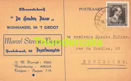 CPA PUB PUBLICITE RECLAME  INGELMUNSTER LIKEURSTOKERIJ DE GOUDEN PAUW MARCEL STEVENS BUYSE INGELMUNSTER - Ingelmunster