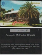 ANTIGUA 18CATE CARAÏBES  EC$10  SAWCOLTS EGLISE TIR 30M - Antigua And Barbuda