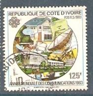 Cote D'Ivoire YV 666B O 1983 Année Mondiale Des Communications - Ivory Coast (1960-...)