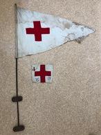 Rare Fanion Et Brassard Croix Rouge  , Ariége, Saint Girons - 1939-45