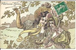 Heureuse Année, Carte Gaufrée, Voyagé (10-18-tout1) - Nouvel An