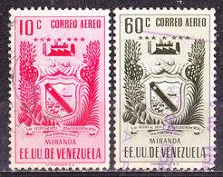 Venezuela 1952 Posta Aerea - Miranda   -Valori Vari Usati - Venezuela