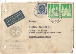 East Germany 1951 Digits With Posthorn Postal History Cover - BRD