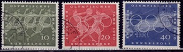 Germany, 1960, Olympic Games, Sc#814-816, Used - [7] Federal Republic