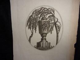 """RARE Authentique Gravure Séditieuse """" Le Saule Pleureur """" Portraits Cachés De Louis XVI Et Sa Famille .1790 - 1800.3 Sca - Other"""