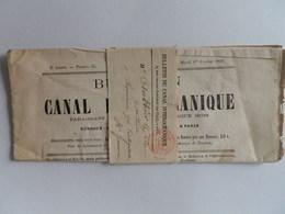 COURRIER DES IMPRIMES DE PARIS DU 3 FEVRIER 1881 (CANAL OCEANIQUE) A CINTEGABELLEourrier - 1849-1876: Période Classique