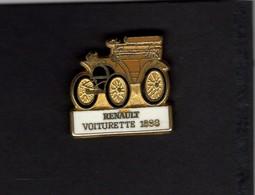 Les Pin's Par Renault  -  Renault Voiturette    -  1898 - Renault