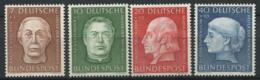 Allemagne Bund 1954 Mi. 200-203 Neuf ** 100% Charité, Personnalité - [7] République Fédérale
