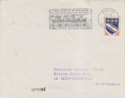 """1967 France 14 Calvados Bayeux Flamme """"Tapisserie De Bayeux - Visite Teleguidee"""" - Postmark Collection (Covers)"""