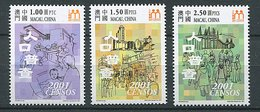 Macao ** N° 1062 à 1064 - Recensement De La Population Et De L'habitat 2001 - 1999-... Chinese Admnistrative Region