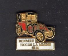Les Pin's Par Renault  -  Renault Taxi De La Marne    -  1914 - Renault