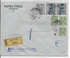 1931 - AUTRICHE - ENVELOPPE RECOMMANDEE De INNSBRUCK => PARIS - 1918-1945 1a Repubblica