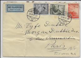 1931 - AUTRICHE - POSTE AERIENNE - ENVELOPPE Par AVION De SALBURG => PARIS - Covers & Documents