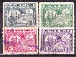 Venezuela 1950 Colombo   -Valori Vari Usati - Venezuela