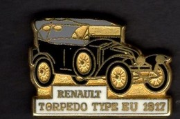 Les Pin's Par Renault  -  Renault Type EU Torpedo    -  1917 - Renault