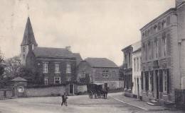 Loverval Place Communale Circulée En 1914 - Gerpinnes