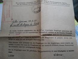 Obl Dinant Le 09/02/44 Avec Tampon De L'occupant! - Postmark Collection