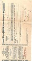 Acte Notarié -Etude De Maitre Pierre QUANTIN, Notaire A Boulogne Sur Mer 62. 1940. CROQUELOIS - France