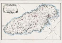 CPM ISLE DE GROIX - Plan De L'Ile Et Implantation De Villages  (édit. Cercle Culturel De Larmor)- Carte De GROIS - Groix