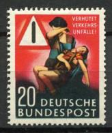 Allemagne Bund 1953 Mi. 162 Neuf * 100% Accidents De La Route - [7] République Fédérale