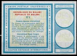 MALAWI Type XIX  17t  International Reply Coupon Reponse Antwortschein IAS IRC  Mint ** - Malawi (1964-...)