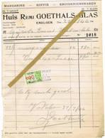 Emelgem - Izegem: 1946, Margarine - Koffie - Kruidenierswaren In 't Groot / In 't Klein ; Huis Remi Goethals-Glas - Belgique