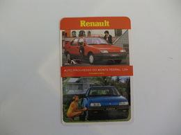 Renault Auto Progresso Monte Pedral Lisboa Portugal Portuguese Pocket Calendar 1989 - Calendriers