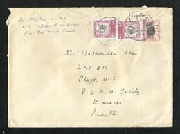 Saudi Arabia Nice Postmark Air Mail Postal Used Cover Jeddah To Pakistan Holy Mosque Ka'aba Mecca - Arabie Saoudite