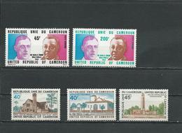 CAMEROUN  Scott C225-C226, 611-613 Yvert PA240-PA241, 591-593 (5) ** Cote 8,10  $ 1974-5 - Cameroun (1960-...)