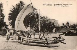 COLOMBO - Barque Cingalaise - Sri Lanka (Ceylon)