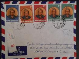 Zaire Lettre Recommande De Lubumbashi 1979 Pour Cannes - Zaïre
