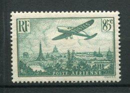 9287  FRANCE  PA 8 *  85c. Vert Foncé   Avion Survolant Paris       1936  TB - 1927-1959 Nuovi